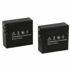 2x900mAh frissített Li-ion akkumulátor az SJCAM SJ4000 SJ6000 SJ5000 wifi SJ5000   T8Y6