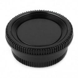 Fekete műanyag kamera burkolat   hátsó lencsevédő sapka a Nikon Digital SLR X7S6 készülékhez