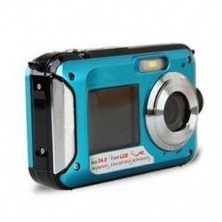 Duplaképernyős HD 24MP vízálló digitális videokamera 1080P DV, kék, Underwa V4Q2