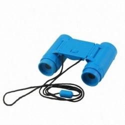 Gyerek gyerekek műanyag 26 mm x 2,5x összecsukható távcső távcső játékkék V9Q8