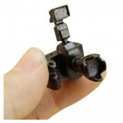 1/12 Dollhouse miniatűr játékkamera vakuval és lencsével, nem működő O2H9