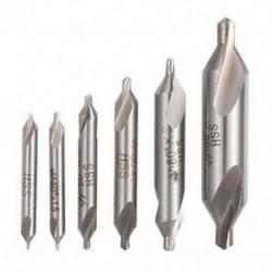 6 PCS HSS kombinált középfúró fúrószár, süllyesztett 60 fokos szög 5/3/2. B0A3
