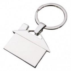 Kreatív ezüst fém krómozott házmodell kulcstartó medál ajándék dekoráció W6U2