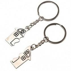 1X (2 db ház alakú mágneses kulcstartó kulcstartó szerelmeseinek A3O1)