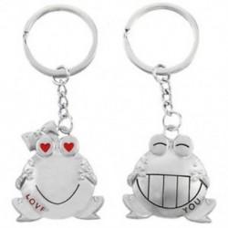 Romantikus nagy szájjal békák pár kulcstartó R3Z9 P7R5