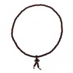 1X (buddhista ima 5 mm-es barna szandálfa gyöngy nyaklánc K2P7)