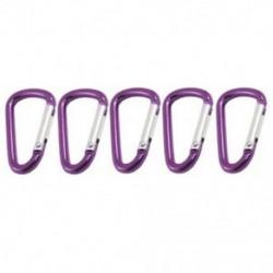 Új 5 darabos lila utazási D alakú alumínium ötvözet karabiner C kampók W3Z5 J0O1