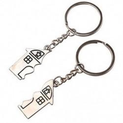 Új 2 db praktikus romantikus ház alakú kulcstartó kulcstartó szerelmeseinek I9Y3 U2P8