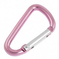 3X (J2K3 rózsaszínű alumíniumötvözet, D-alakú rugós rugókapu-karabiner)