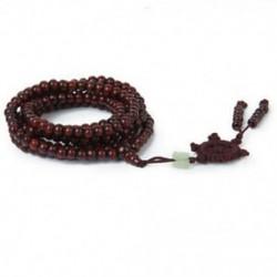 Szandálfa gyöngyök 216 db buddhista tibeti Buddha Mala karkötő nyaklánc V7I1