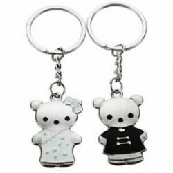 1 pár szép kulcstartó kulcstartó pár szerető fekete   fehér S6H2