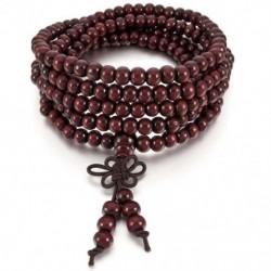 6 mm-es nyaklánc tibeti vörös szandál 216db gyöngy ima buddhista karkötő férfi, W S2R5