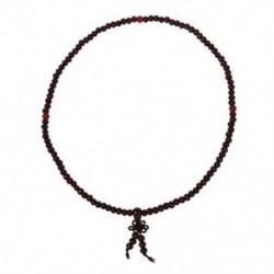 Buddhista ima 5 mm-es barna szandálfa gyöngy nyaklánc F5J2
