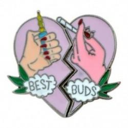 Megtört szív Bross készlet csapok Zománc rózsaszínű Kézi öngyújtó cigaretta Legjobb rügyek B P4T2