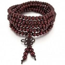 2X (6 mm-es nyaklánc tibeti piros szandál 216db gyöngy ima buddhista karkötő Man N4O3