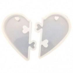 1PC szerelmes zárak szerelmeseknek Függőleges folyékony szilikon forma DIY ékszer forma C7Q7-hez