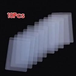 10 db puha, átlátszó műanyag kártyahüvelyvédő, személyi igazolványokhoz, szalagkártyákhoz, B9K9