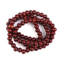 Fa imádságlánc 108 db buddhista buddhista Mala karkötő lilaszerű piros C F7D4