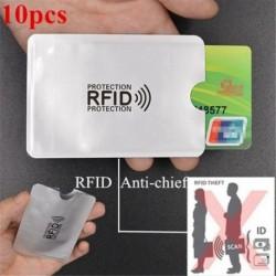 10 db-os alumíniumfólia deszagmentesítő kártya borítása RFID árnyékoló táska NFC credi P3W8