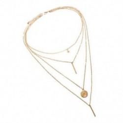 Bohém hosszú medál nyakláncok Lady Vintage arany csillag csillag nyaklánc Multil W5M4