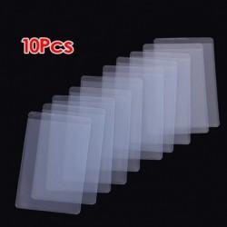 1X (10 db puha, átlátszó műanyag kártya-hüvelyvédő, személyi igazolványokhoz, Band Car G7Q7)