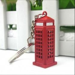 Vintage telefonfülke brit miniatűr londoni autós kulcstartó kulcstartók Die L0U2