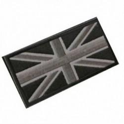 FASHION Union Jack UK zászló jelvény javítópálca vissza 10cm x 5cm ÚJ, (fekete / Gr Q4A8