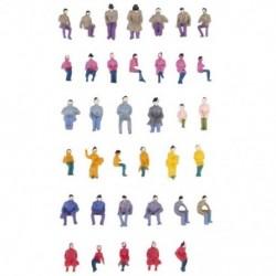 Ról ről. 50 x figurák utasok ülő festett miniatűr dekorációval az S L3Y6 vonathoz