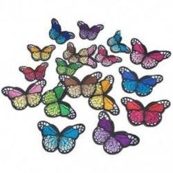1X (10 db hímzéssel színes pillangó Naehen patch jelvénytáska sapka a farmer Q4K1