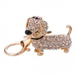 Divat kutya tacskó kulcstartó táska bársony medál kulcstartó kulcstartó Jewelr O7A1