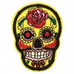 8 db cukor koponya vas fel / varrni ruhával javító jelvény Mexikóban a holtak napja Appl B5D7