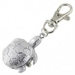 BT1 Új gyönyörű textúrájú ezüst hangú teknős medál vadász tok kulcstartó