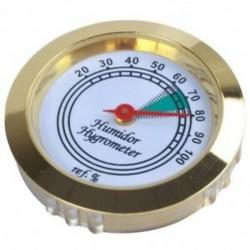 1 db 43 mm-es kalibrálható arany keret Kerek higrométer fém S6Q2 szivar dobozához