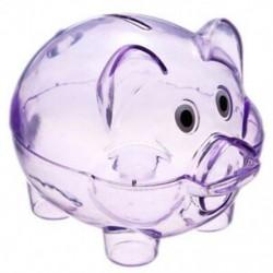Aranyos műanyag malac átlátszó malacka bank érmedobozban pénzt megtakarító tok gyerekeknek játék G2K4