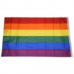 Gay Pride Rainbow Flag 5`x3` W7I7