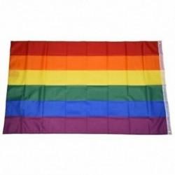 Gay Pride Rainbow Flag 5`x3` D5I9