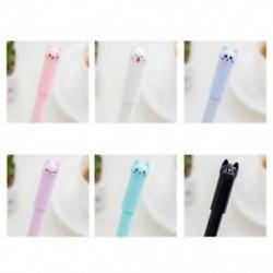 1X (12 db macska gél toll aranyos toll helyhez kötött Kawaii iskolai kellékek gél tinta Pe M9E3