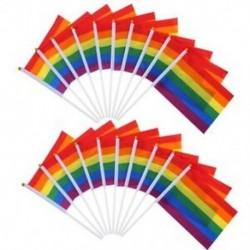 20 Pack Gay Pride szivárvány zászló leszbikus béke Lgbt szivárvány zászló zászló a P C2D7-hez