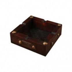 Y4B0 vintage fa hamutartó cigaretta szivar kézzel készített dohány fa tok cigaretta