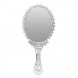 1X (női Vintage repó virágos, kézzel tartott ovális tükör smink fodrászat C3E8)