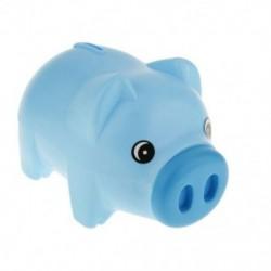 Műanyag kék malacka bank Állati malacka bank Kincstármegtakarító érme pénzérmék Pénz G7I4