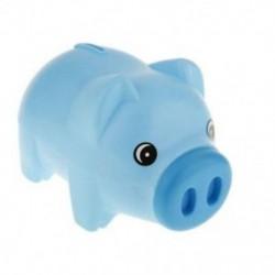 1X (Műanyag kék malacka bank Állati malacka bank Kincstármegtakarító érmeérmék hétfő A4H0