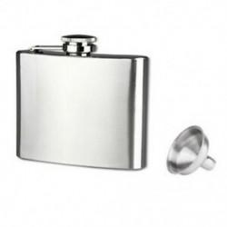 Hip lombik rozsdamentes acél lombik és tölcsér készlet 5 oz, kényelmes hordozható O2Z6