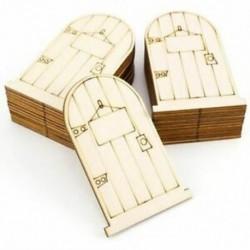 25 lézervágott fa tündérfajta elf ajtó készlet, E8S4 lemezzel festetlen