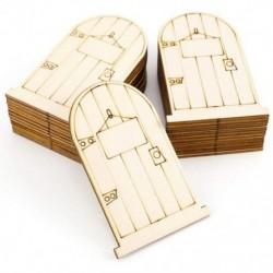 25 lézervágott fa tündérfajtás elf ajtókészlet, E2A1 lemezzel festetlen