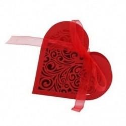 piros - 1X (20 szív alakú cukorka doboz, doboz virág cukorka S4F7)