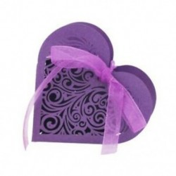 lila - 20 szív alakú cukorka doboz, doboz H9Z5 virág cukorka