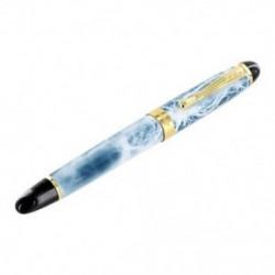Jinhao Luxury M Nib 18KGP töltőtoll (Blau, fehér márvány) Q8Y7