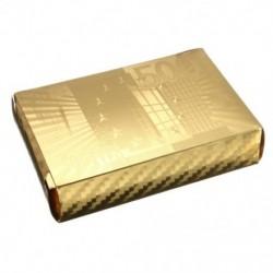 Arany fólia póker euró stílusú műanyag póker játékkártyák vízálló Bo S4O3 kártyák