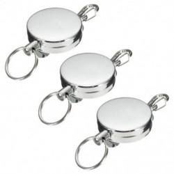 3 db rozsdamentes ezüst visszahúzható kulcstartó kulcstartó kulcstartó nagyteljesítményű Stee Q2A9
